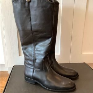 Frye Melissa Button II Riding Boots Black Size 8